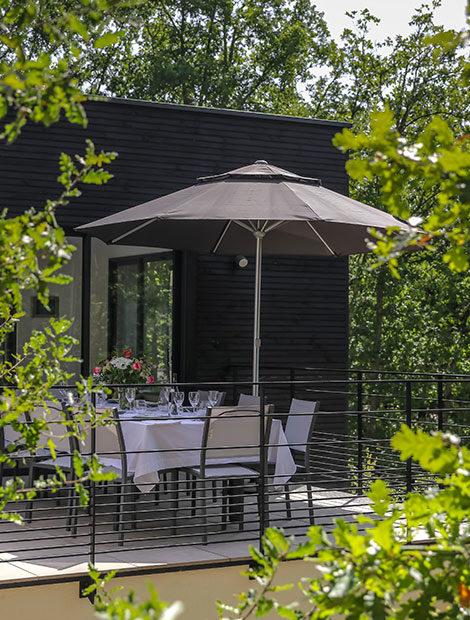 Terrasse vue sur Dordogne