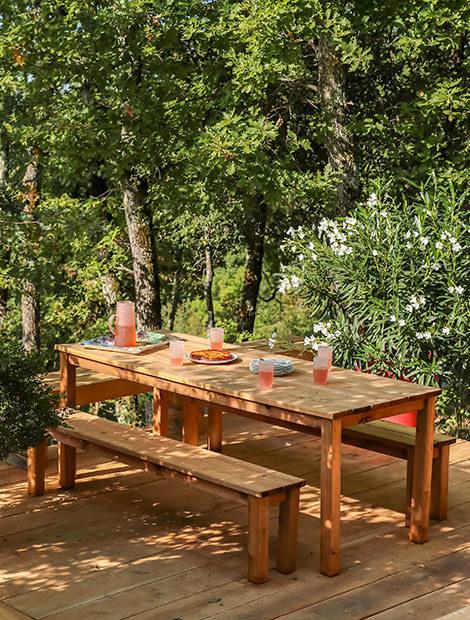 Terrasse en bois en campagne